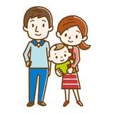 Ejemplo de una familia feliz stock de ilustración