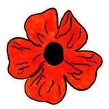 Ejemplo de una flor anaranjada con un modelo del tono medio stock de ilustración