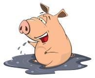 Ejemplo de una historieta del cerdo Fotografía de archivo