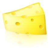 Ejemplo del queso de la historieta Fotografía de archivo