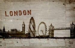 Ejemplo de una pintada en un muro de cemento de la ciudad de Londres Foto de archivo libre de regalías