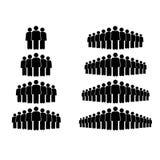 Ejemplo de Vecotr de la muchedumbre de icono de la gente del grupo stock de ilustración