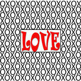 Ejemplo de XOs del amor Fotografía de archivo libre de regalías