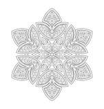 Ejemplo decorativo de la mandala Imagen de archivo