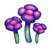 Ejemplo decorativo a mano de las flores stock de ilustración