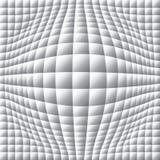 ejemplo deformado óptico del blanco del mosaico 3d/del negro Imágenes de archivo libres de regalías