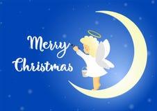 Ejemplo del ángel de la Navidad stock de ilustración