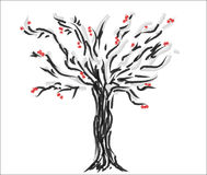 Ejemplo del árbol Imagen de archivo