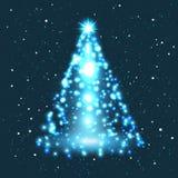 Ejemplo del árbol de navidad. Fotografía de archivo libre de regalías