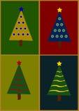 Ejemplo del árbol de navidad Fotos de archivo