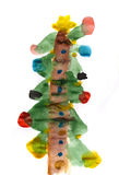 Ejemplo del árbol del Año Nuevo del invierno Fotos de archivo libres de regalías