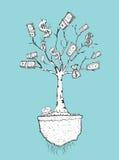 Ejemplo del árbol del dinero Fotografía de archivo