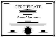 Ejemplo del éxito Vector de la icono-educación del certificado ilustración del vector