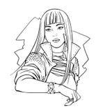 Ejemplo del ídolo de estallido japonés libre illustration