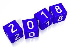ejemplo del Año Nuevo 3D 2018 Imágenes de archivo libres de regalías