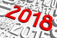 ejemplo del Año Nuevo 3D 2018 Fotos de archivo libres de regalías