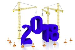 ejemplo del Año Nuevo 3D 2018 Foto de archivo libre de regalías