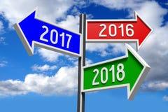 ejemplo del Año Nuevo 3D 2018 Fotografía de archivo