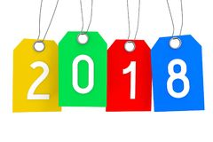ejemplo del Año Nuevo 3D 2018 Fotos de archivo