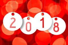 ejemplo del Año Nuevo 3D 2018 Imagenes de archivo