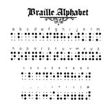 Ejemplo del alfabeto de Braille Fotos de archivo