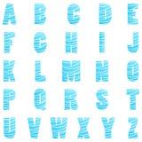 Ejemplo del alfabeto inglés Imágenes de archivo libres de regalías