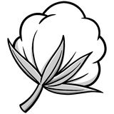 Ejemplo del algodón stock de ilustración