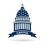 Ejemplo del americano del congreso del capitolio ilustración del vector