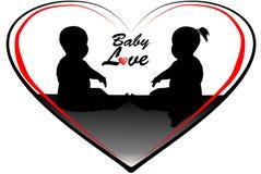Ejemplo del amor del bebé Foto de archivo libre de regalías