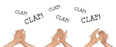Ejemplo del aplauso el aplaudir de manos Imagen de archivo libre de regalías