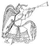 Ejemplo del arcángel Gabriel (vector) Imagen de archivo