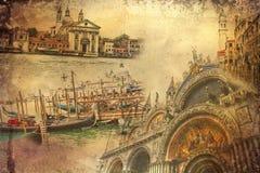 Ejemplo del arte de Venecia ilustración del vector