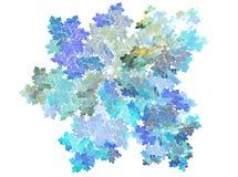 Ejemplo del arte del fractal del detalle del microscopio de la helada del invierno del copo de nieve libre illustration