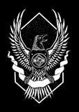Ejemplo del arte del diseño de Eagle Heart ilustración del vector