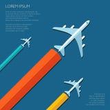 Ejemplo del aviador plano del diseño del viaje del vector Foto de archivo