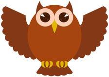 Búho del vector del icono Foto de archivo