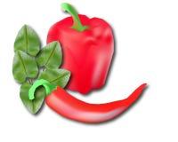 Ejemplo del búlgaro y del pimiento picante libre illustration