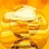 Ejemplo del balón de fútbol del oro libre illustration