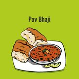 Ejemplo del bhaji de Bombay pav stock de ilustración