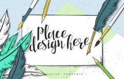 Ejemplo del bosquejo del concepto de diseño de la plantilla para comercializar Maqueta del concepto Fotos de archivo libres de regalías