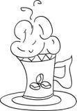 Ejemplo del bosquejo del vector - taza de café Imágenes de archivo libres de regalías