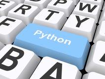 Ejemplo del botón de Python ilustración del vector