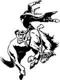 Ejemplo del caballo salvaje Bucking ilustración del vector