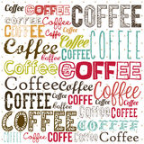 Ejemplo del café Imagen de archivo libre de regalías