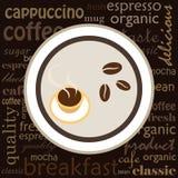 ejemplo del café Fotografía de archivo