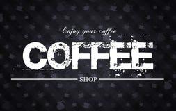 ejemplo del café Imagenes de archivo