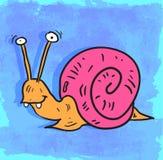 Ejemplo del caracol de la historieta, icono del vector Imagenes de archivo