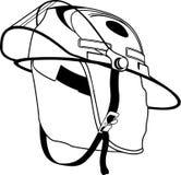 Ejemplo del casco del bombero libre illustration