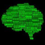 Ejemplo del cerebro de Digitaces Imágenes de archivo libres de regalías