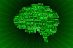 Ejemplo del cerebro de Digitaces Fotos de archivo libres de regalías